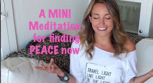 A Meditation for finding PEACE now