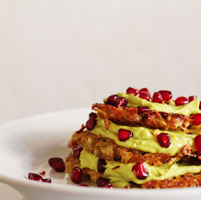 Potato Pancakes with Whipped Avocado
