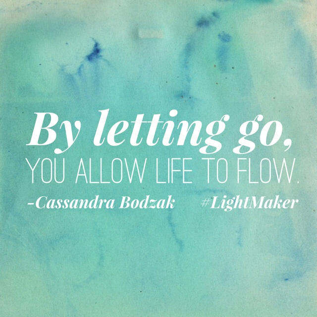 Letting go and letting life FLOW