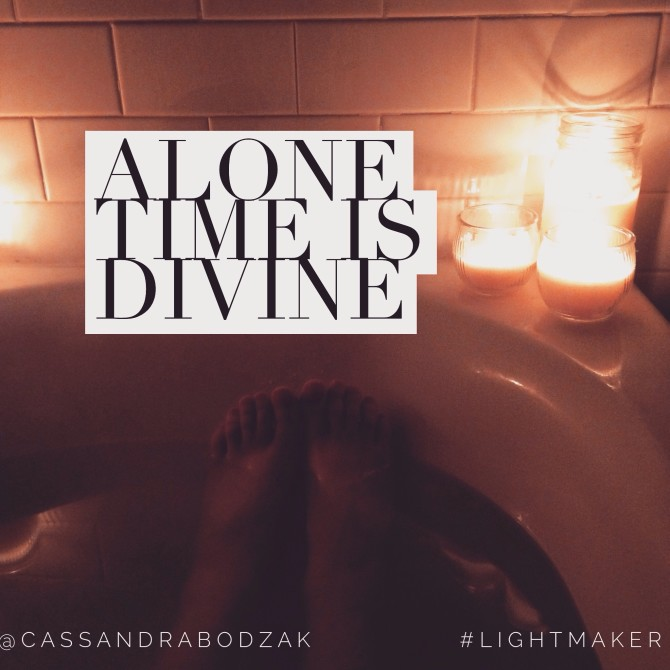 Alone time is divine