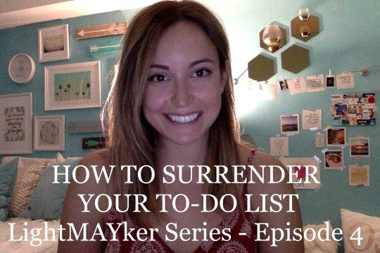 How to surrender your to-do list