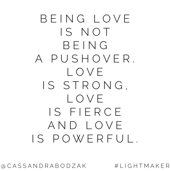 Standing your ground with love